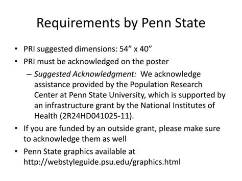 Penn State Mba Requirements by Ppt Poster Design Workshop Adobe Illustrator