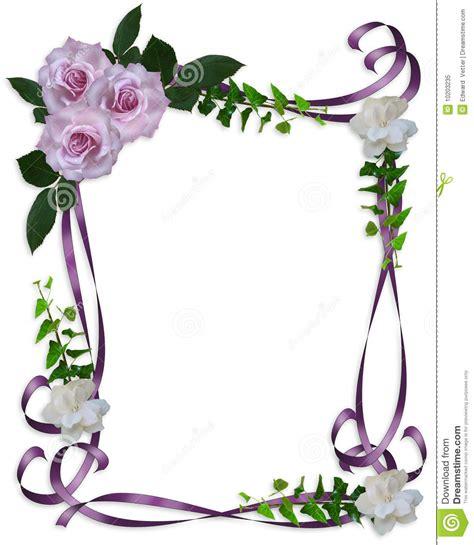wedding invitation borders free wedding invitation border lavender roses stock illustration illustration of border floral