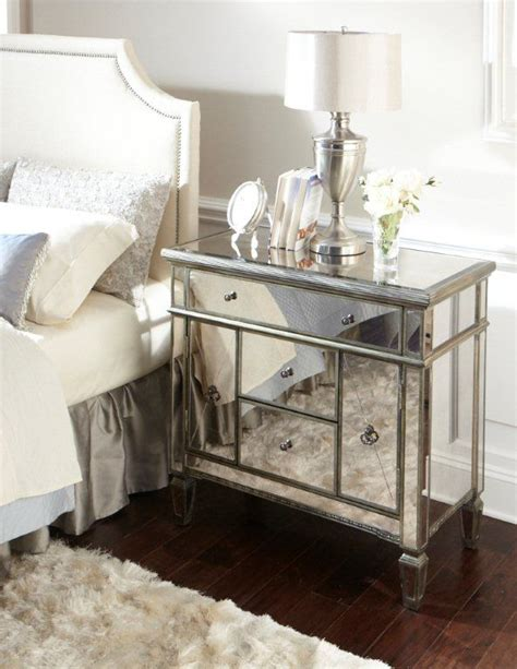 Mirrored Nightstand Sales amelie mirrored nightstand on sale for the home