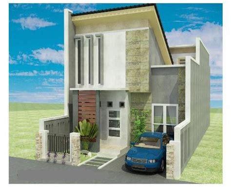 gambar rumah tak depan 3d lebih detail jualbogor
