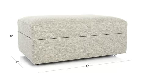 storage ottoman with casters lounge ii storage ottoman with casters taft cement