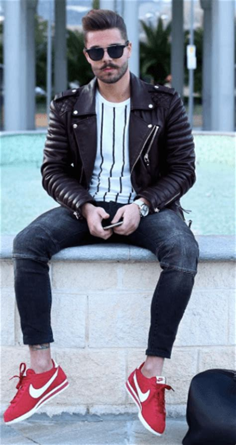 leather jacket outfits  men  ways  wear leather jackets