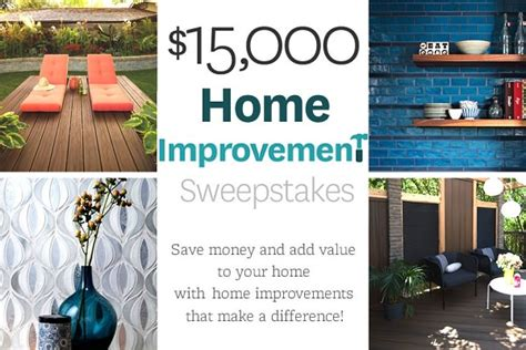 15 000 bhg win home improvement sweepstakes