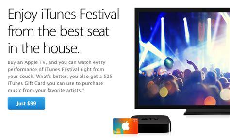 Itunes Gift Card Apple Tv - apple once again offering 25 itunes gift card with apple tv purchase in itunes