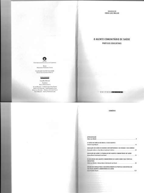 Livro o Agente Comunitário de Saúde Educação Em Saúde
