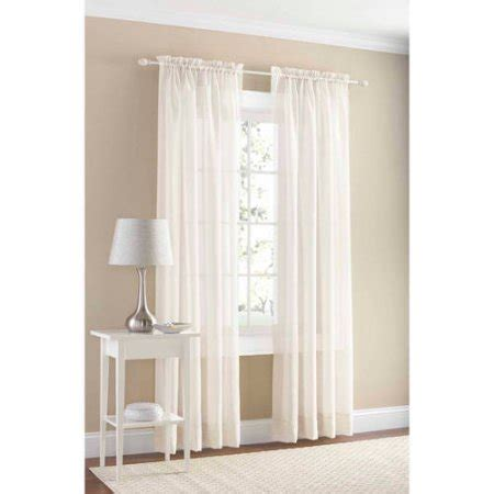 walmart sheer curtain mainstays marjorie sheer voile curtain panel walmart com