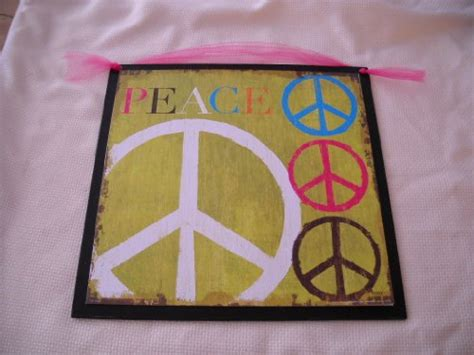 peace sign bedroom decor wall decor peace signs on lime green wooden wall art