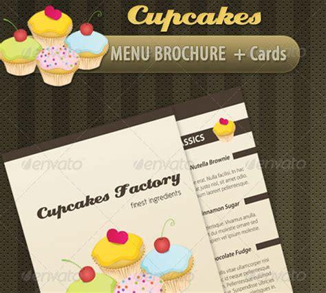 cupcake menu card template 45 revisable premium brochure template designs naldz
