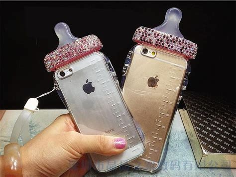 Iphone 6 Ory Baby Skin Casing Cover rhinestone baby bottle cell phone cases milk bottle cover back skin for iphone