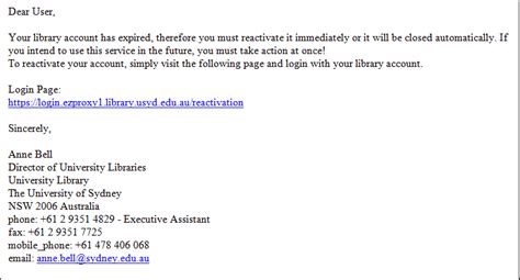 how to leave a email scam targeting library clients library news