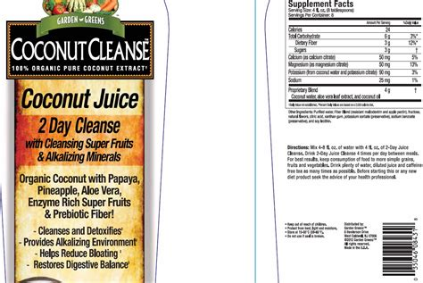 How G Will Inhibit Detox by Garden Greens Coconut Cleanse Windmill Vitamins