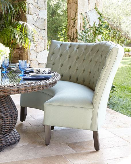 outdoor banquette tufted outdoor banquette granite