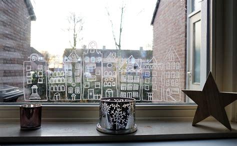Weihnachtsdeko Fenster Kreide by Windowpainting Mit Kreide Die Fenster Dekorieren Lotte
