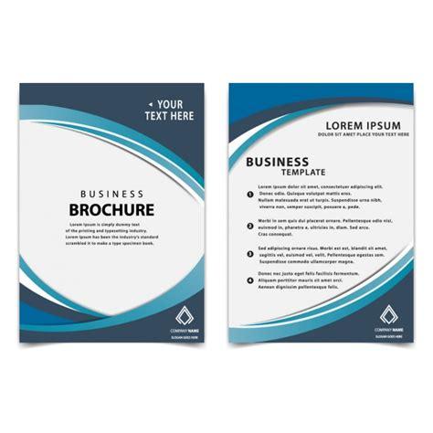 modern blue business brochure template vector free download