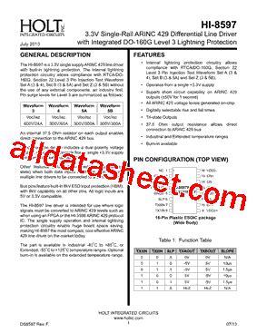 understanding integrated circuits pdf hi 8597 datasheet pdf holt integrated circuits