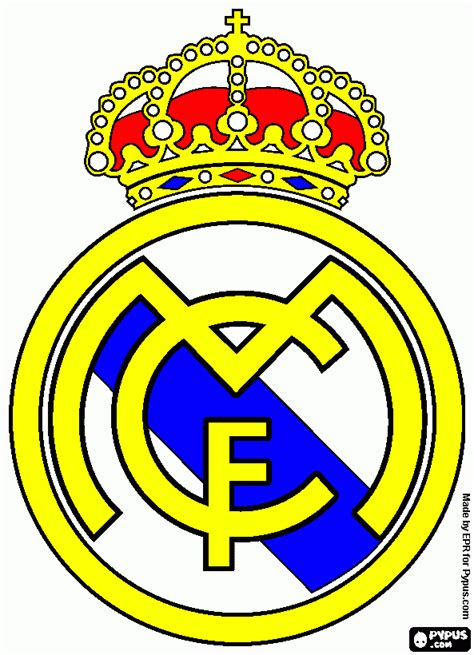 real madrid emblem coloring pages