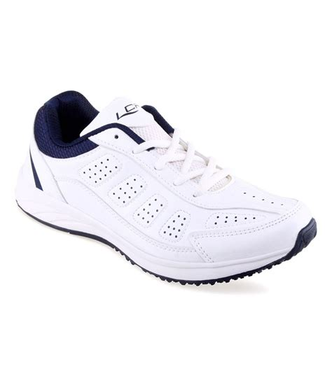 lancer white synthetic leather sport shoes price in india