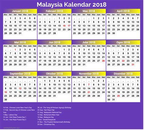 printable calendar 2018 malaysia school holiday calendar 2018 public holiday malaysia kalentri 2018
