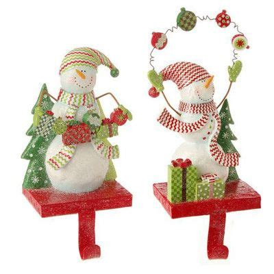 raz snowman christmas stocking holder set of 2 2 assorted