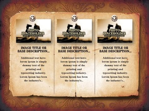 Western Themed Powerpoint Template Bountr Info Western Powerpoint Template