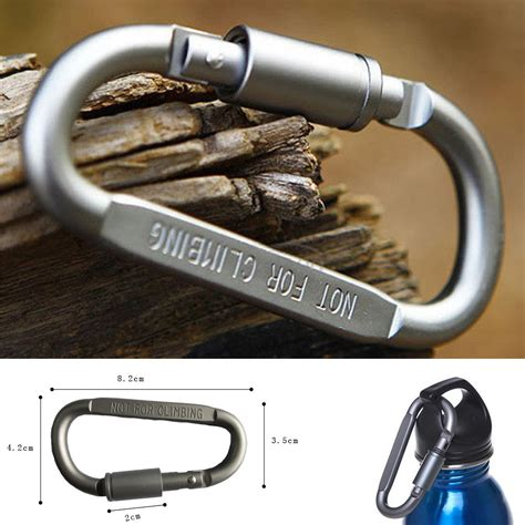 Dhaulagiri Carrabiner 02 Silver outdoor hiking aluminum carabiner d ring keychain clip hook buckle silver ebay