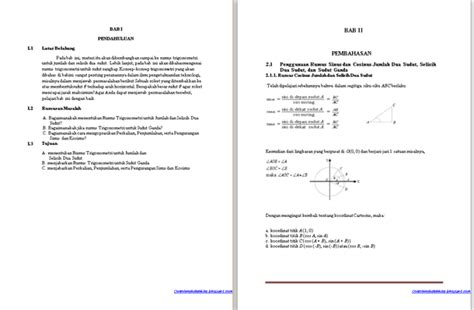 format makalah matematika contoh makalah matematika tentang trigonometri klik