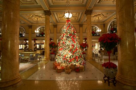 hotel lobby christmas decorations willard intercontinental hotel in the lobby