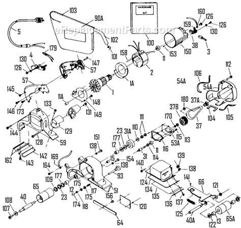 porter cable  parts list  diagram type