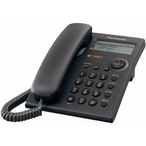 panasonic battery operated corded desk phone with caller