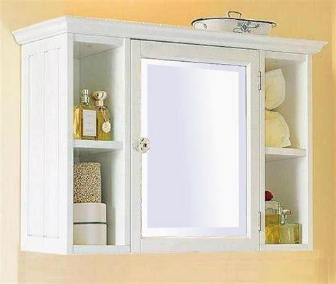 small white bathroom wall cabinet  shelf home