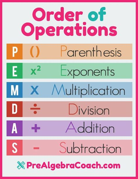 the 25 best order of operations ideas on math