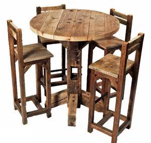 Rustic Bistro Table And Chairs Broyhill Attic Rustic Oak Six Pub Set Dining Room Table Sets