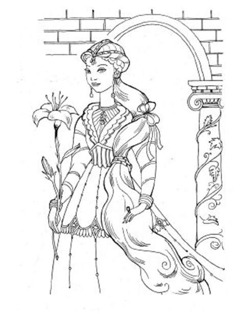 irish princess coloring pages 17 best images about coloriages moyen age on pinterest