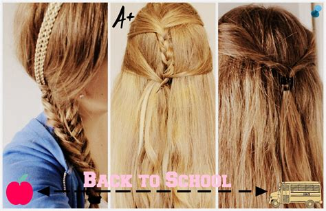 hairstyles for school easy easy hairstyles for school medium hair styles ideas