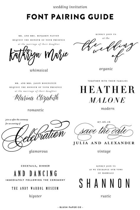 Wedding Invitation Font Pairing by Guide To Using Fonts On Wedding Invitations Pittsburgh