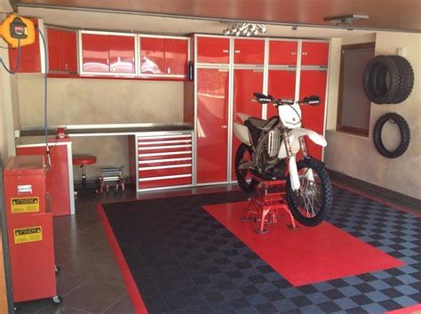 bike workshop ideas moduline cabinets in motocross garage garage cabinets