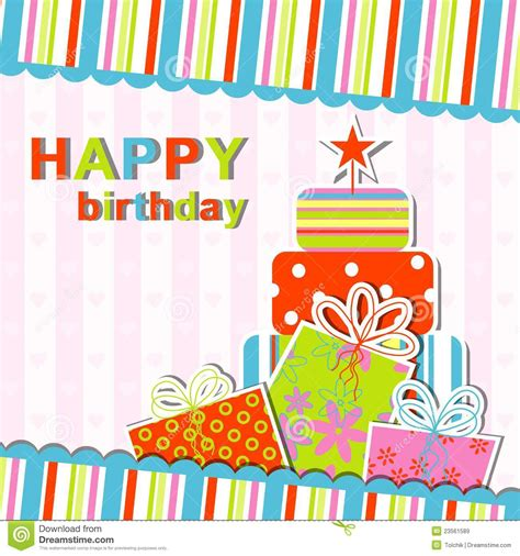 free birthday card template template birthday greeting card royalty free stock images