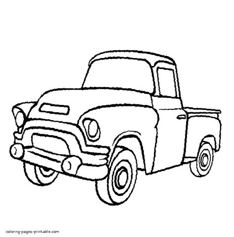 preschool coloring pages trucks old pickup truck coloring pages