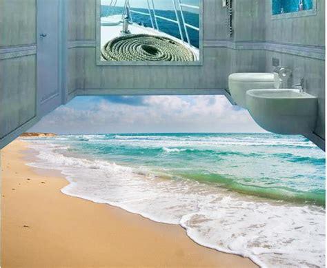 3d mural custom photo floor wallpaper 3d stereoscopic ocean beach