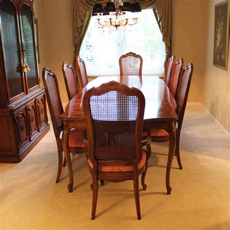 thomasville dining room chairs thomasville dining room set with cane back chairs ebth