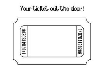 ticket out the door template ticket out the door template by proverbs four thirteen tpt