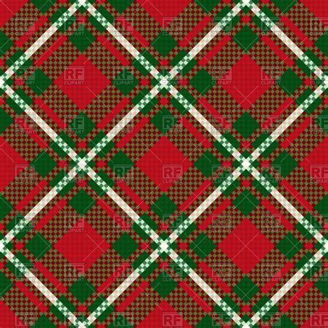 diagonal seamless pattern as tartan plaid vector image diagonal seamless checkered pattern in green and red hues