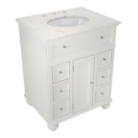 Hton Bay Bathroom Vanities Home Decorators Collection Coupons For Hton Bay 28 Quot W Single Bathroom Vanity With White Marble
