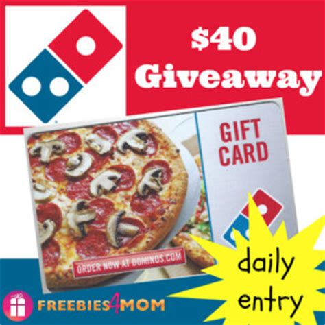 blog sweepstakes giveawayus com - Win Domino S Gift Card
