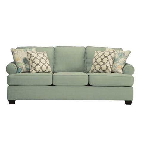 sleeper sofa queen size ashley daystar fabric queen size sleeper sofa in seafoam