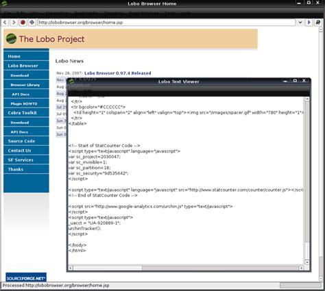 layout web java download lobo free java web browser auto design tech