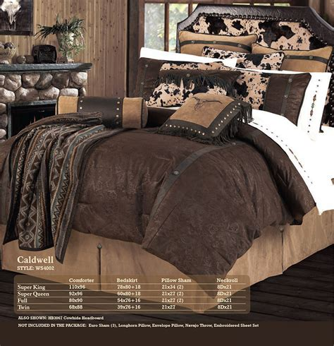 pungo ridge caldwell faux leather tooled bedding set