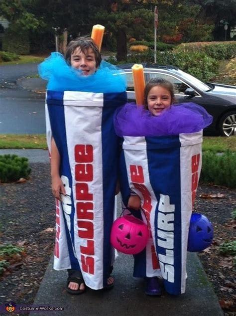 slurpees matching sibling costumes  kids halloween