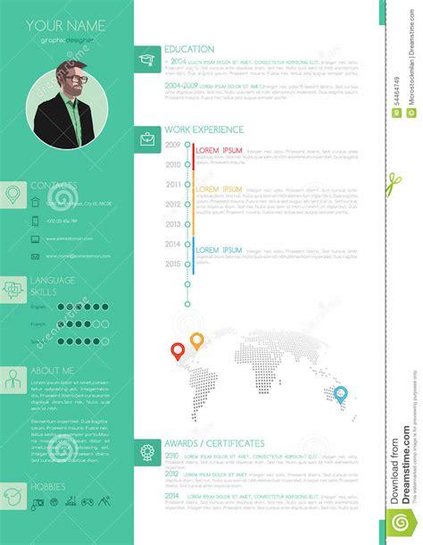Best Resume Templates Pinterest by R 233 Sum 233 Minimaliste 233 L 233 Gant De Style De Vecteur Cv