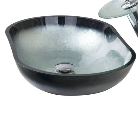 Modern Bathroom Sink Bowl Modern Bathroom Sink Oval Artistic Tempered Glass Vessel